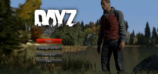 DayZ login screen